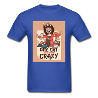 One Cat Away from Crazy - Men's - royal blue
