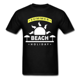 Summer Beach Holiday Design #4 - Men's Tee - black