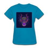 Colorful Dragon Face 2 - Women's - turquoise