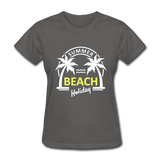 Summer Beach Holiday Design #3 Women's Tee - charcoal