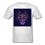 Colorful Dragon Face 2 - Unisex - light heather grey