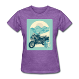 Motorcycle in the Mountains - Women's - purple heather