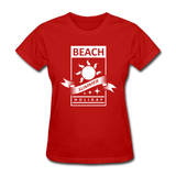 Beach Summer Holiday Design #2 - Women's Tee - red