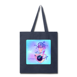 Sagittarius Lady on Blue - Tote - navy