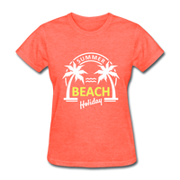Summer Beach Holiday Design #3 Women's Tee - heather coral