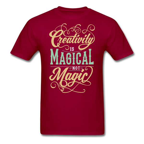 Creativity is Magical not Magic - Men's - dark red