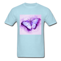 Purple and Blue Sketch Butterfly - Men's - powder blue