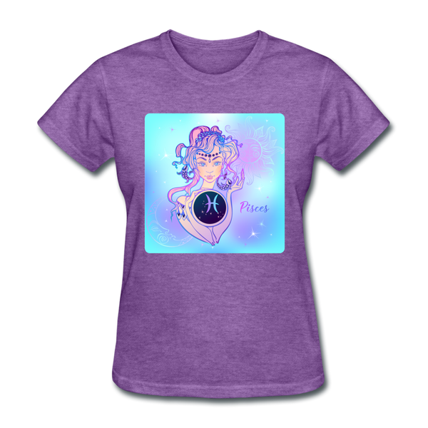 Pisces Lady on Blue - Women's - purple heather