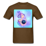 Cancer Lady on Blue - Unisex - brown