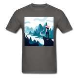 Lady in Pink Hiking - Unisex - charcoal