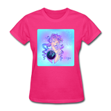 Virgo Lady on Blue - Women's - fuchsia
