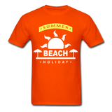 Summer Beach Holiday Design #4 - Men's Tee - orange