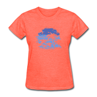 Palm Tees with Sky - Women's Tee - heather coral