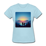 Backpackers at Sunset - Women's - powder blue