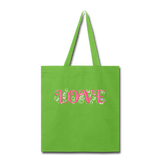 Love Design - tote2 - lime green