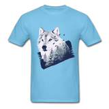 Wolf in the Forest - Men's - aquatic blue