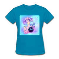 Libra Lady on Blue - Women's - turquoise