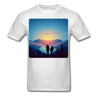 Backpackers at Sunset - Unisex - light heather grey