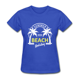 Summer Beach Holiday Design #3 Women's Tee - royal blue