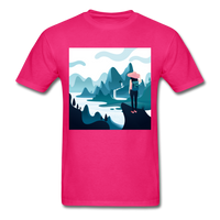 Lady in Pink Hiking - Unisex - fuchsia