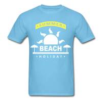Summer Beach Holiday Design #4 - Men's Tee - aquatic blue