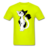Black Tailed Cat - Unisex - safety green