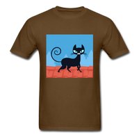 Black Cat on a Roof - Mens - brown