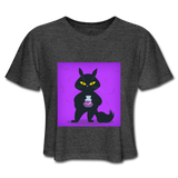 Satisfied Black Cat - Women's - deep heather