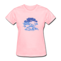 Palm Tees with Sky - Women's Tee - pink