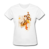 Swirls with Butterfly - Women's - white