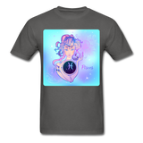Pisces Lady on Blue - Unisex - charcoal