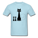 Black Cat Family - Men's - powder blue
