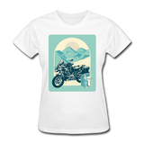 Motorcycle in the Mountains - Women's - white
