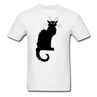 Black Cat with Yellow Eyes - Men's - white