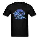 Palm Trees with Sky - Men's Tee - black