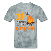 Life is Better Campfire - Men's - grey tie dye