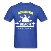 Summer Beach Holiday Design #4 - Men's Tee - royal blue
