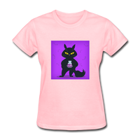 Satisfied Black Cat - Women's - pink