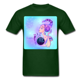 Scorpio Lady on Blue - Unisex - forest green