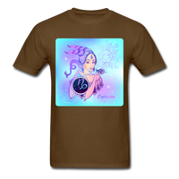 Capricorn Lady on Blue - Unisex - brown