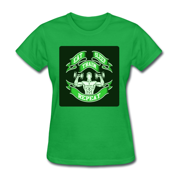 Eat Sleep Train Repeat 2 - Women's - bright green