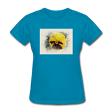 Yellow Pansy Watercolor - Women's - turquoise