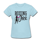 Boxing Chick - Women's - powder blue