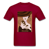 A Chocolate Eating Classy Lady - Men's - dark red