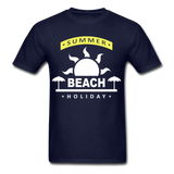 Summer Beach Holiday Design #4 - Men's Tee - navy