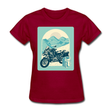 Motorcycle in the Mountains - Women's - dark red