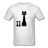 Black Cat Family - Men's - light heather grey
