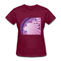 Sun Rays and Butterflies - Women's - burgundy