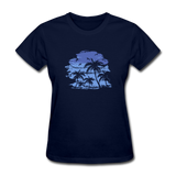 Palm Tees with Sky - Women's Tee - navy