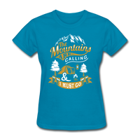 Mountains Calling Yellow - Women's - turquoise